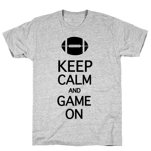 Keep Calm and Game On Mens T-Shirt