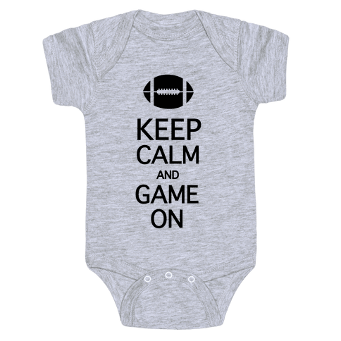 Keep Calm and Game On Baby Onesy