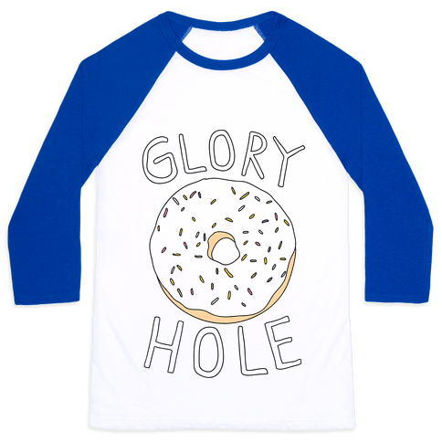 Glory Hole Donut Baseball Tee