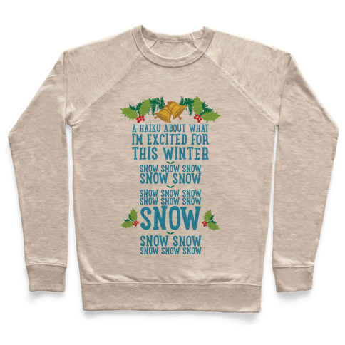 A Haiku About What I'm Excited For This Winter Pullover