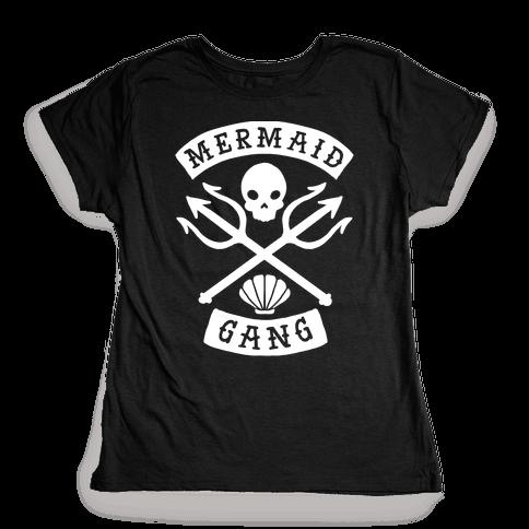 Mermaid Gang Womens T-Shirt