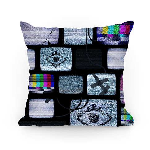 Static Tv Set Pillow Pillow