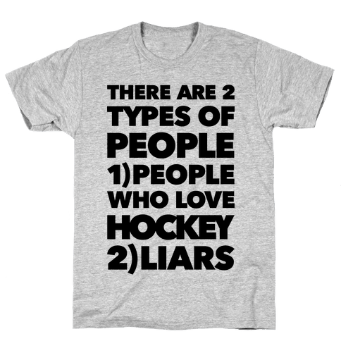 Hockey Lovers And Liars Mens T-Shirt