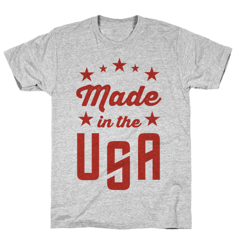 Made in the USA (Red) Mens T-Shirt