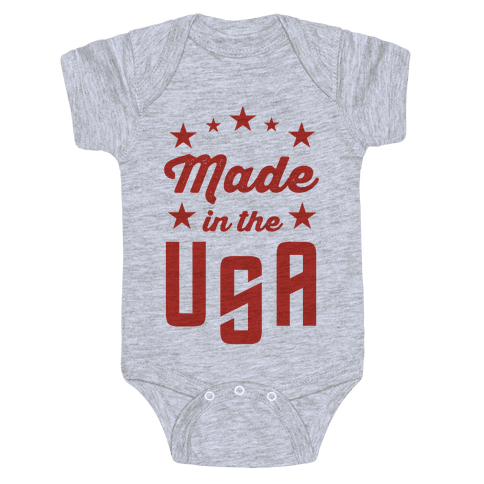 Made in the USA (Red) Baby Onesy