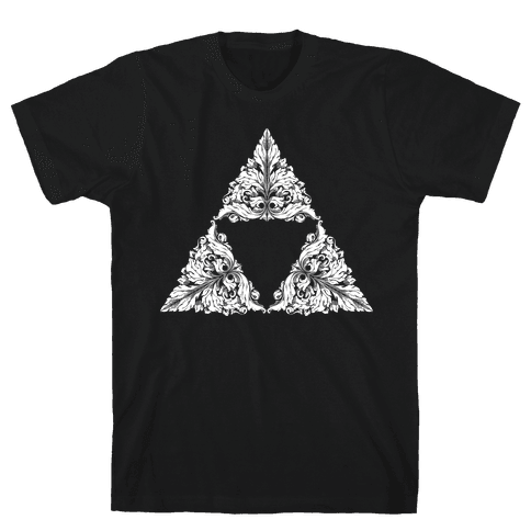 Floral Triforce Mens T-Shirt