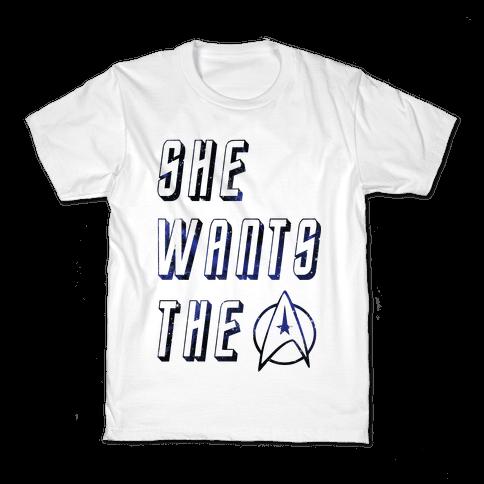 She Wants The Star Fleet Kids T-Shirt