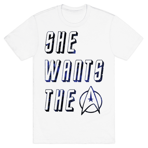 She Wants The Star Fleet Mens T-Shirt