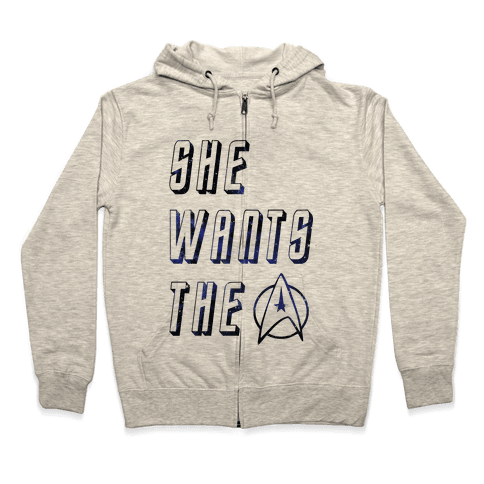 She Wants The Star Fleet Zip Hoodie
