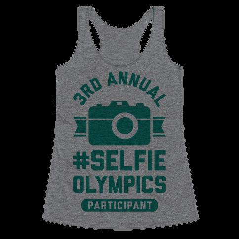 Selfie Olympics Racerback Tank Top