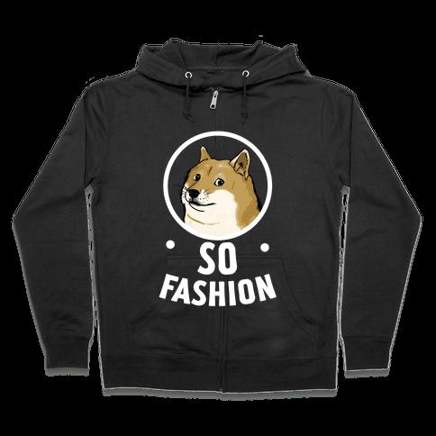 Doge: So Fashion! Zip Hoodie