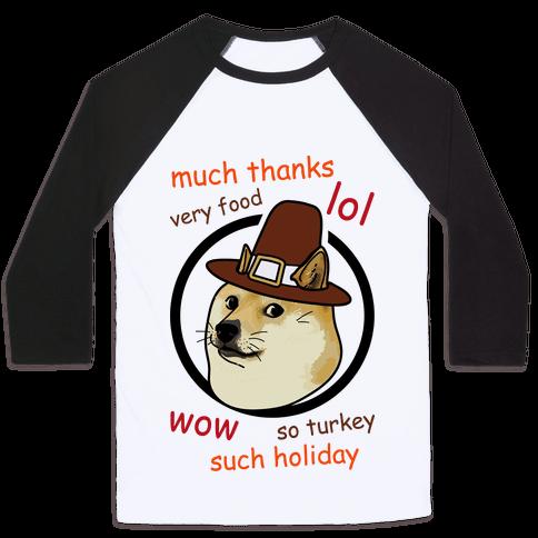 Doge Thanksgiving Baseball Tee