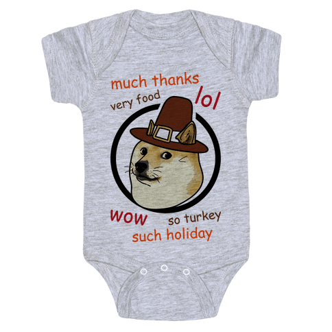 Doge Thanksgiving Baby Onesy