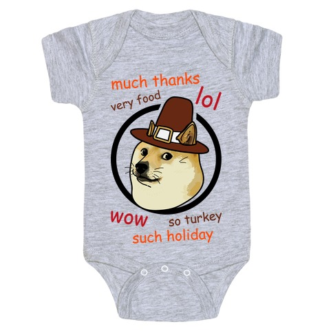 Doge Thanksgiving Baby Onesy