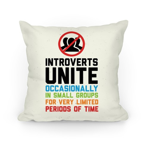Introverts Unite! Pillow
