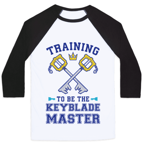 Training To Be The Keyblade Master Baseball Tee