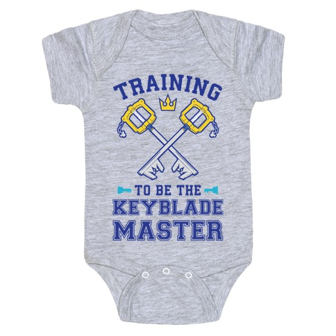 61e4cb85c Training To Be The Keyblade Master Baby Onesy