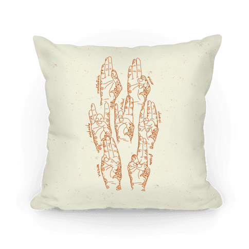 Healing Yoga Mudras Pillow