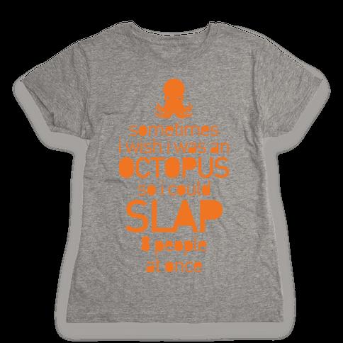 Octopus Slap Womens T-Shirt
