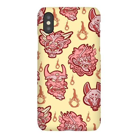 Oni Demons Pattern Phone Case