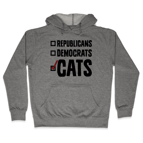 Republicans Democrats Cats Hooded Sweatshirt