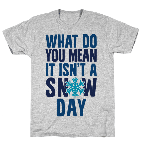 What Do You Mean It Isn't A Snow Day Mens T-Shirt