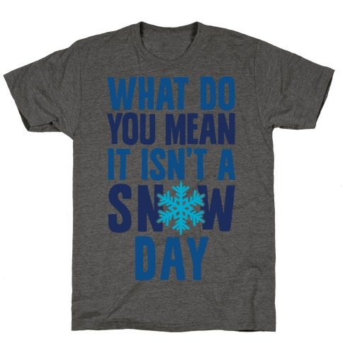 What Do You Mean It Isn't A Snow Day T-Shirt