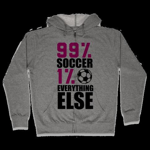 99% Soccer Zip Hoodie