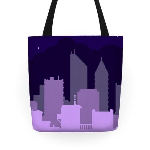 Pixel Cityscape Tote