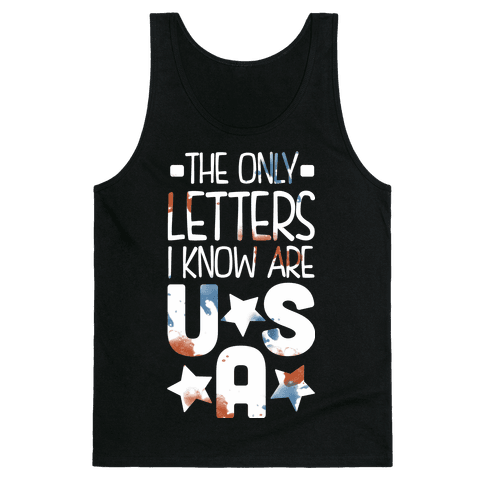 The Only Letters Are USA (Dark) Tank Top