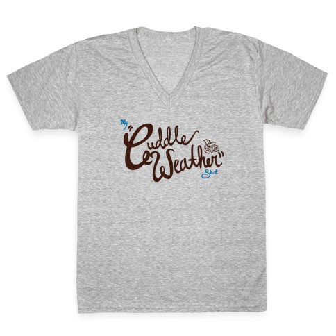Cuddle Weather V-Neck Tee Shirt