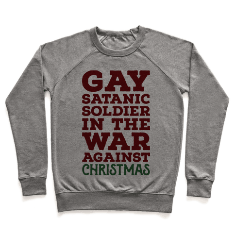 Gay Satanic Soldier Pullover