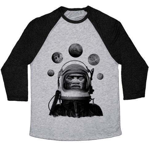 Space Olmec Baseball Tee