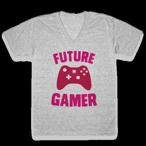 Future Gamer V-Neck Tee Shirt