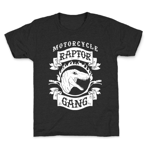 Motorcycle Raptor Gang Kids T-Shirt