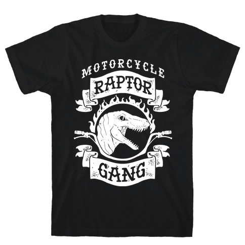 Motorcycle Raptor Gang Mens T-Shirt