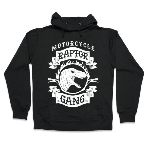 Motorcycle Raptor Gang Hooded Sweatshirt