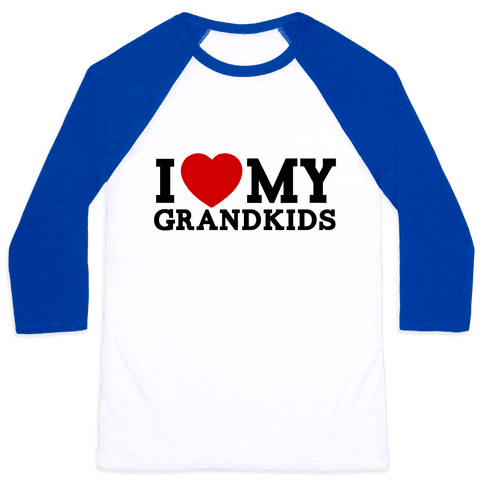 I Love My Grandkids Baseball Tee