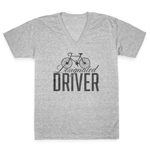 Designated Driver V-Neck Tee Shirt