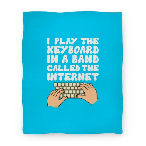I Play The Keyboard Blanket