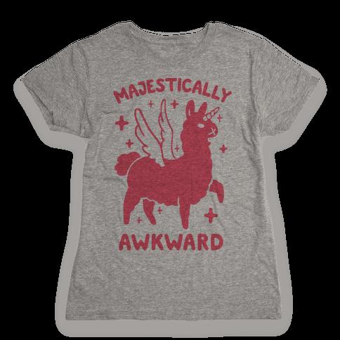 Majestically Awkward Llamicorn Womens T-Shirt
