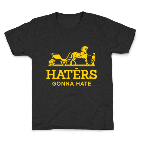 Haters Gonna Hate (Gold Hermes Parody) Kids T-Shirt