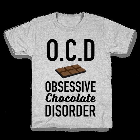 OCD Obsessive Chocolate Disorder Kids T-Shirt