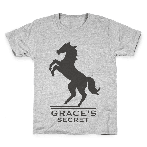 Grace's Secret Faux Fashion Logo Kids T-Shirt