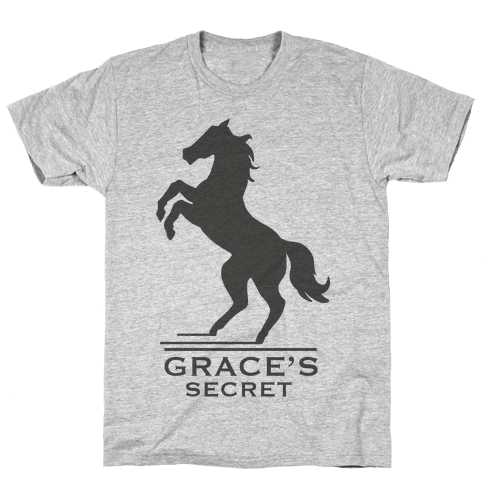 Grace's Secret Faux Fashion Logo Mens T-Shirt