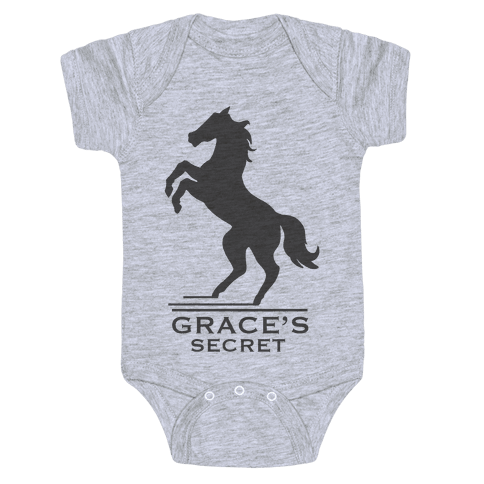 Grace's Secret Faux Fashion Logo Baby Onesy