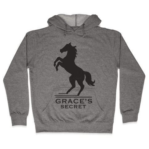 Grace's Secret Faux Fashion Logo Hooded Sweatshirt