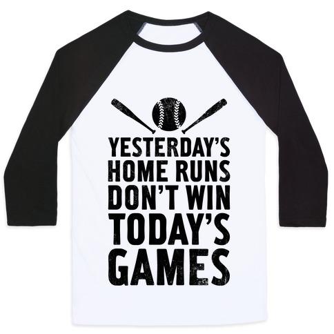 Yesterday's Home Runs (Vintage) Baseball Tee