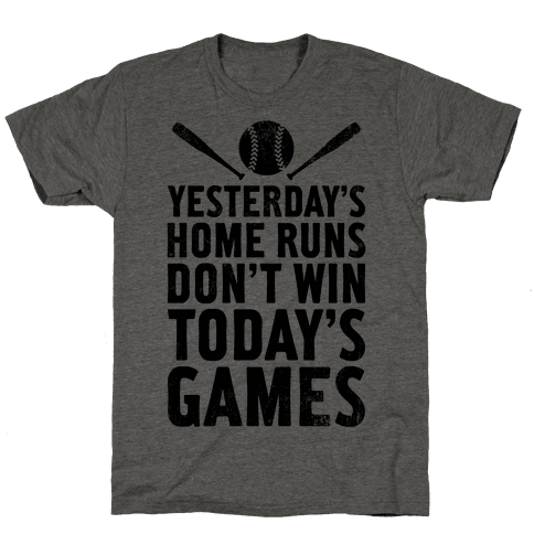 Yesterday's Home Runs (Vintage) Mens T-Shirt