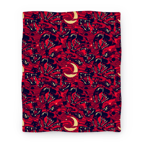 Occult Werewolf Moon Pattern Blanket